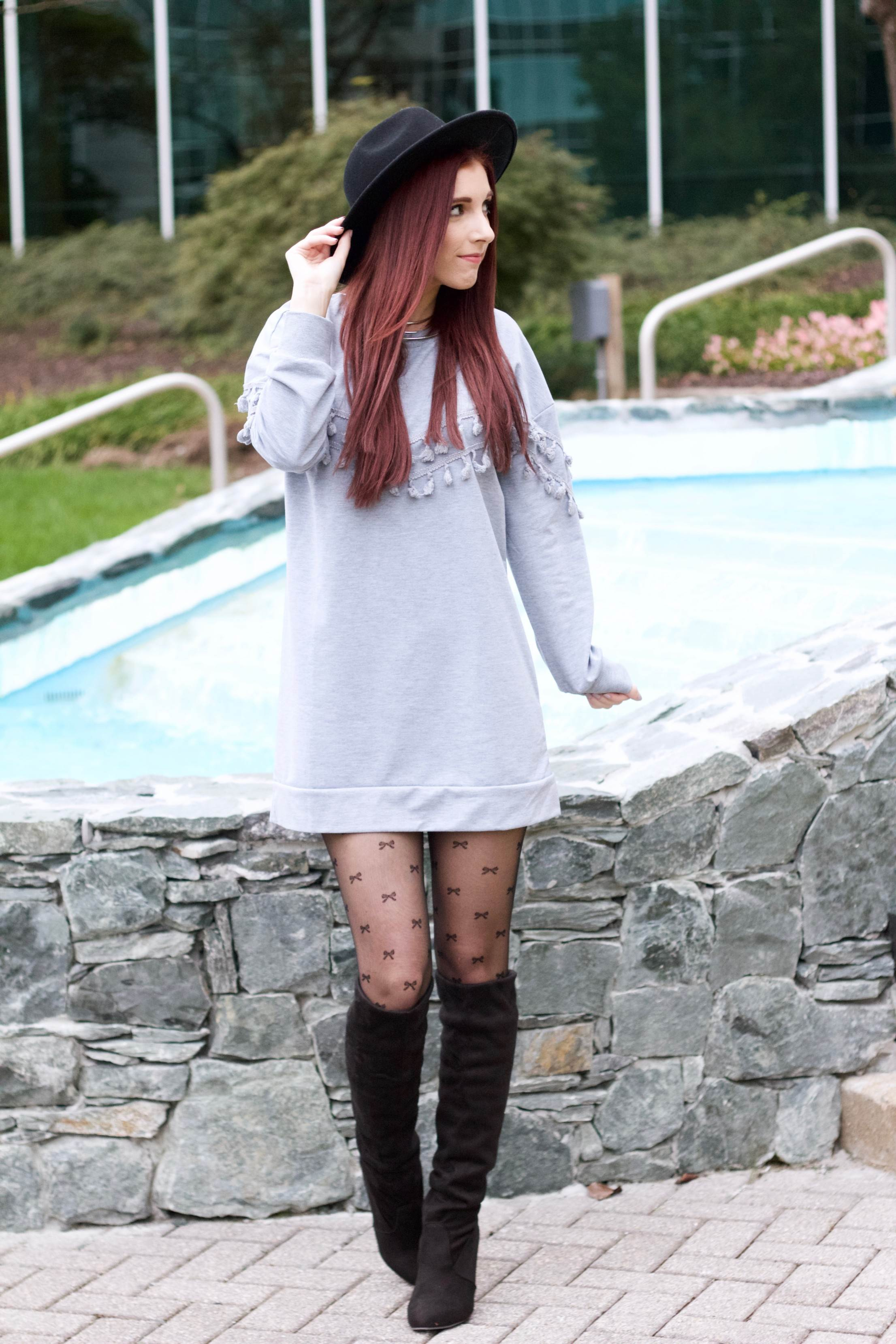 When Chic Met Comfort: The Sweatshirt Dress Redefined // She Saw Style
