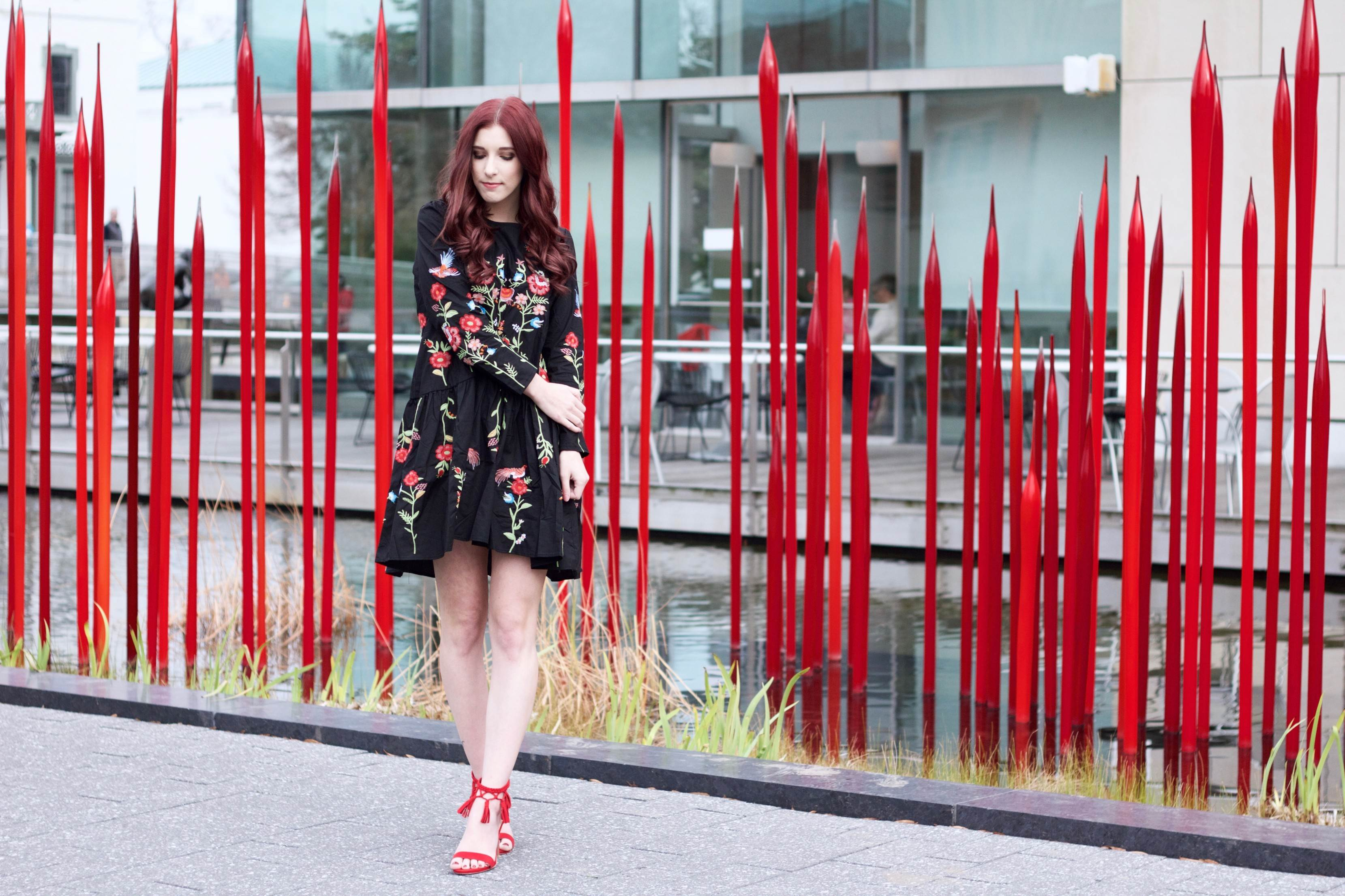 Where The Red Blooms Grow: Embroidered Pieces Aren't Going Anywhere in 2017 // She Saw Style