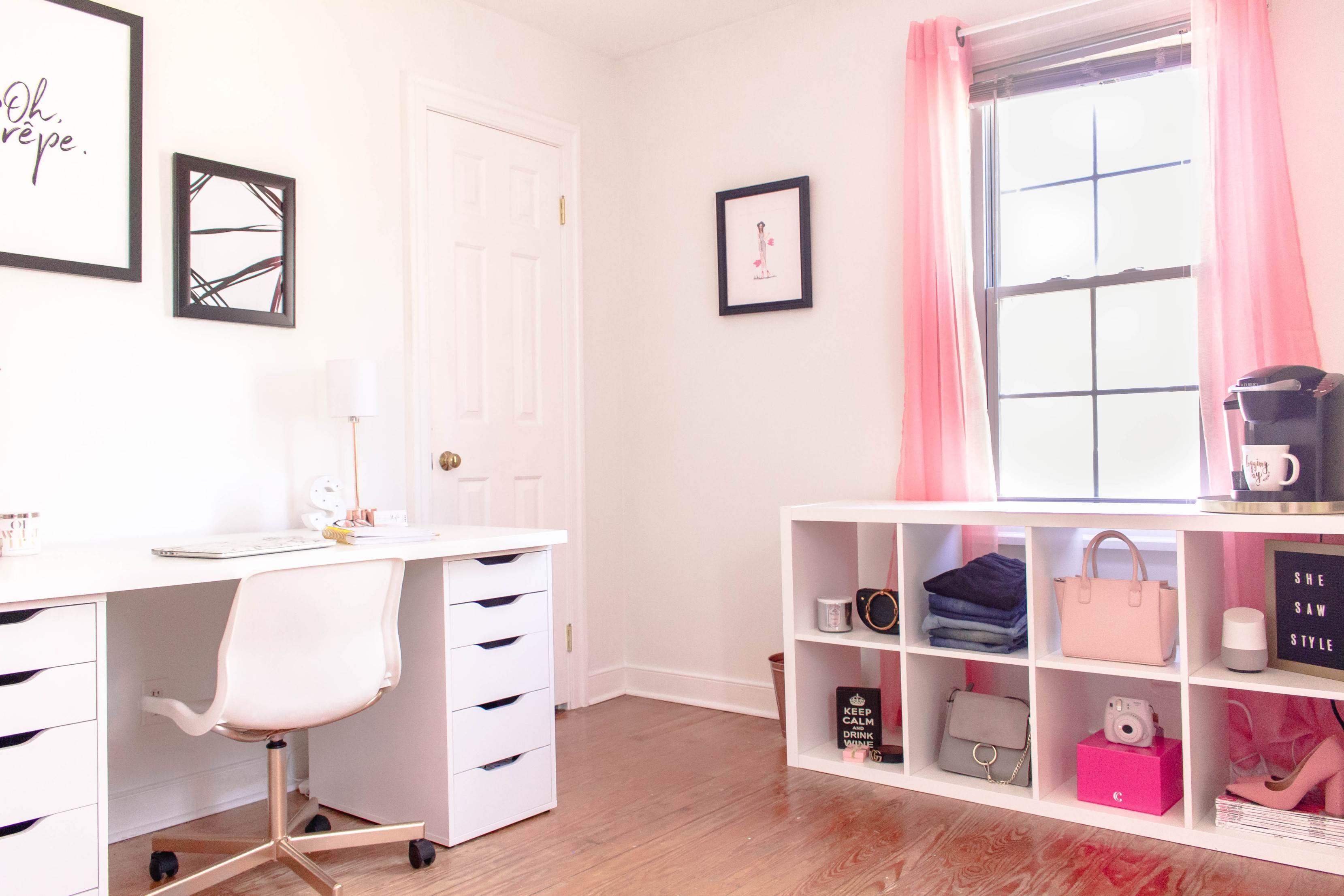 A Feminine and Affordable Cloffice (Closet + Office Space)