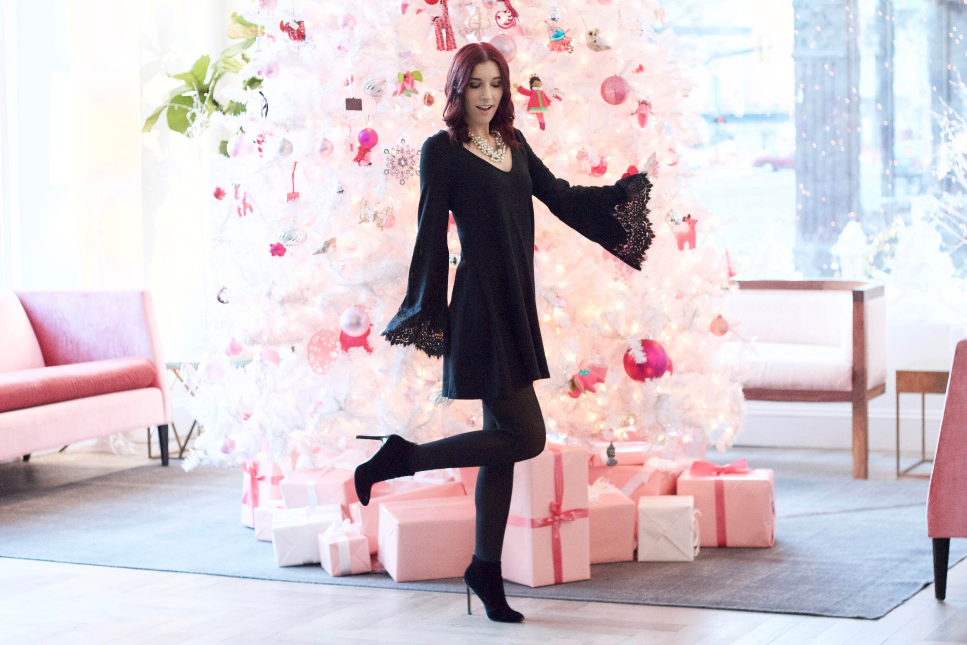 A Very Berry Christmas: Pink Trees and LBDs // She Saw Style