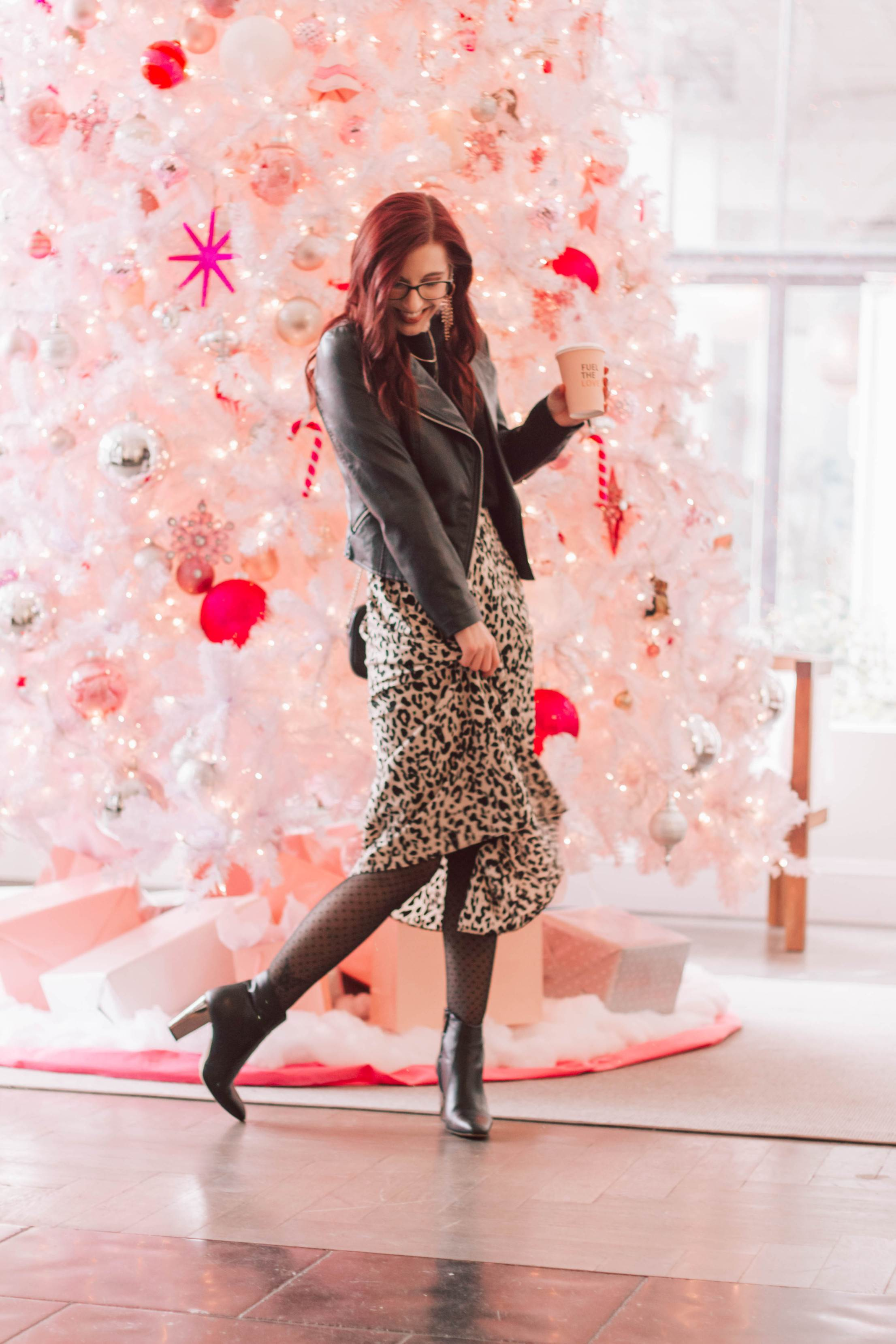 Styling Leopard Print for Christmas