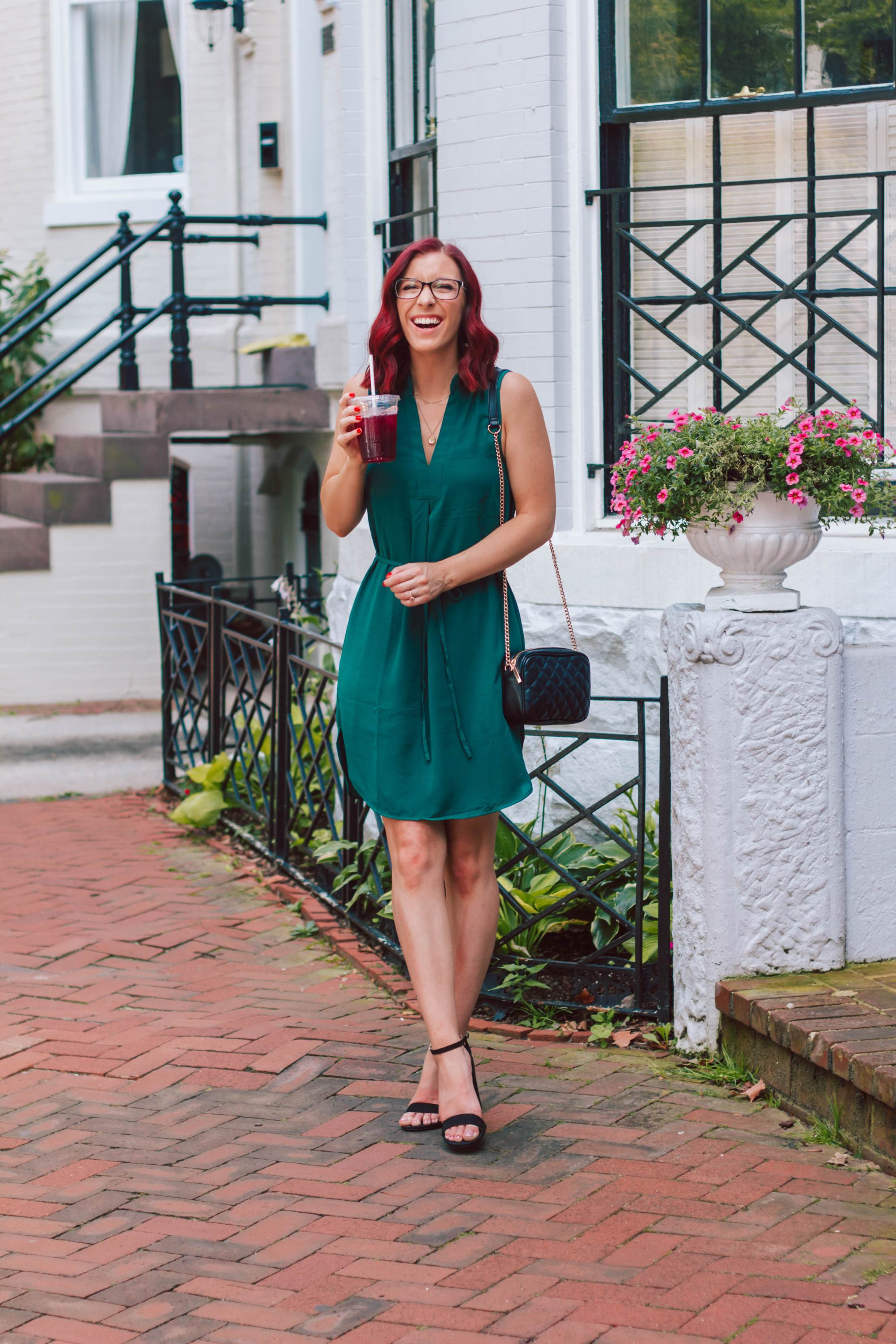 Belted Shift Dress for Work and Play | She Saw Style