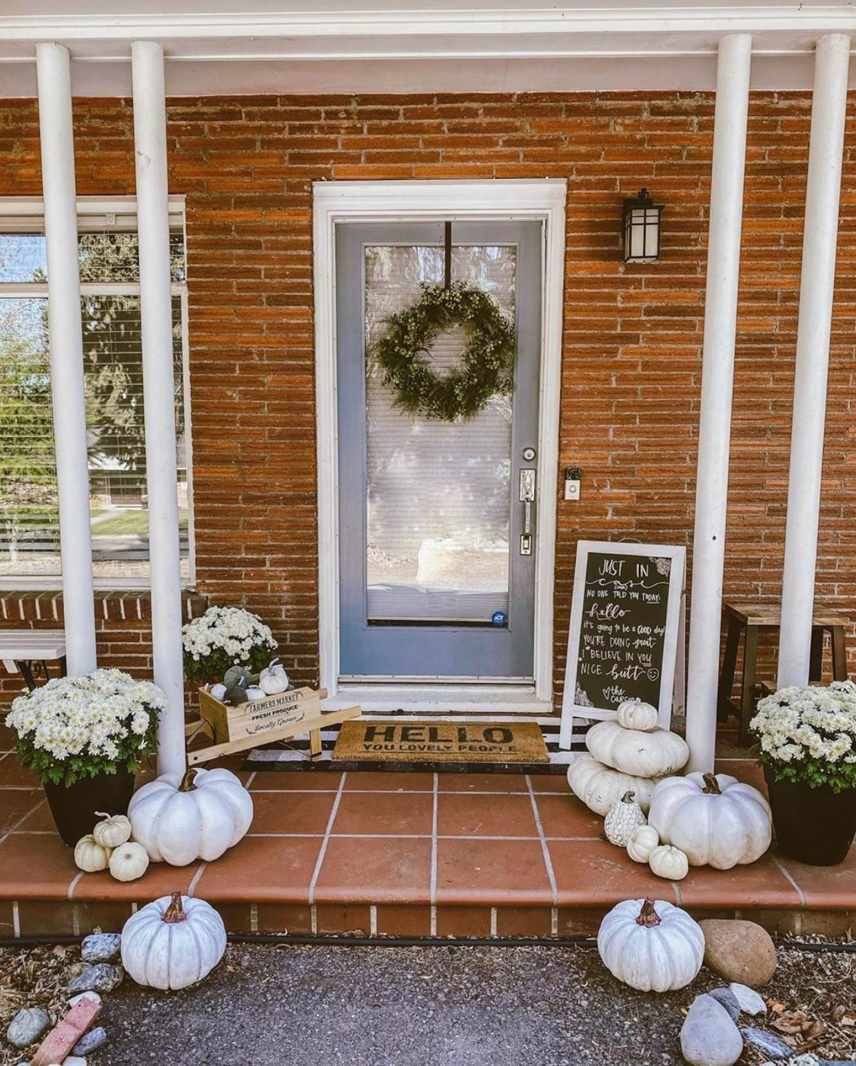 Fall Front Porch Ideas on a Budget | She Saw Style