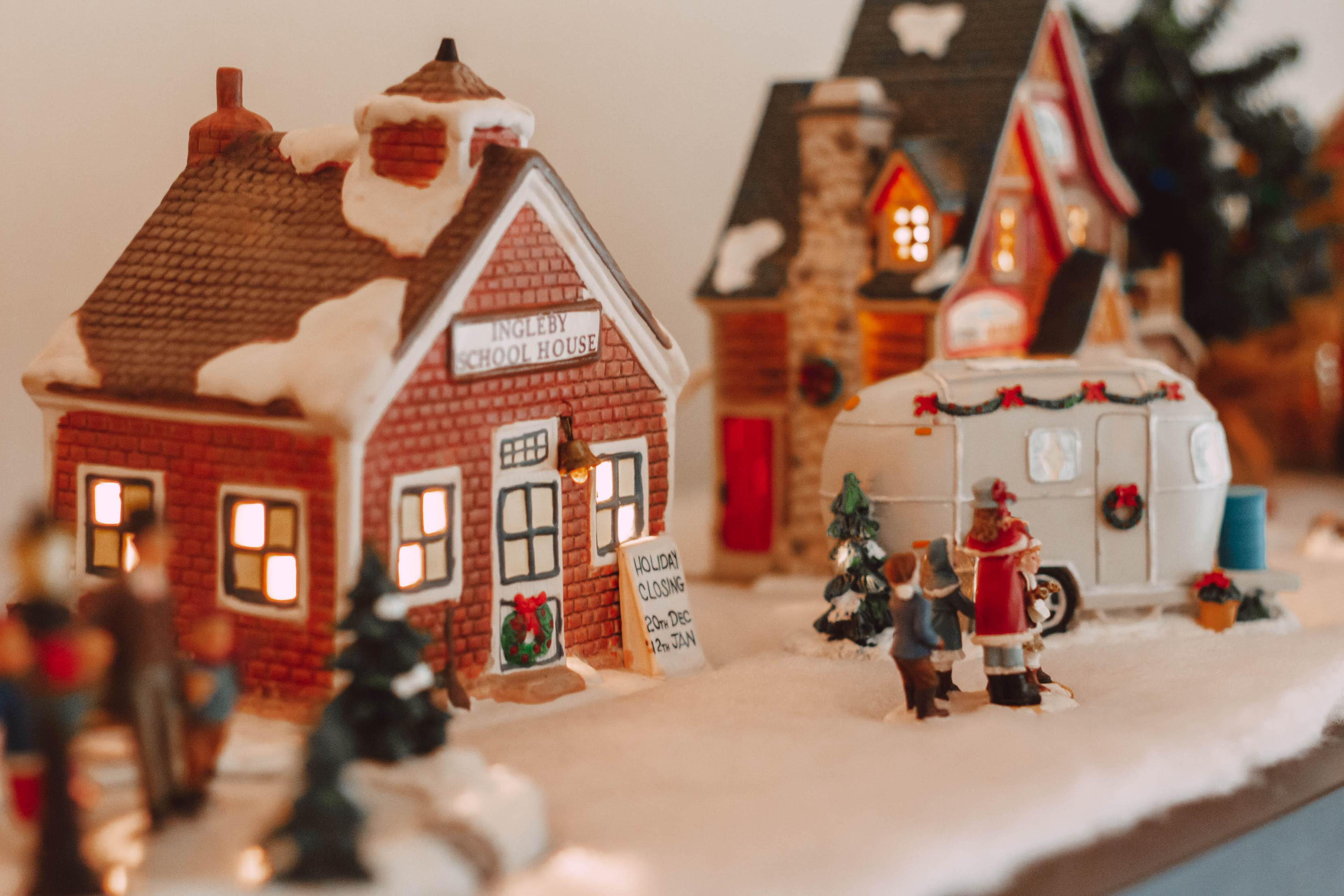 How to Create a Beautiful and Meaningful Holiday Village | She Saw Style