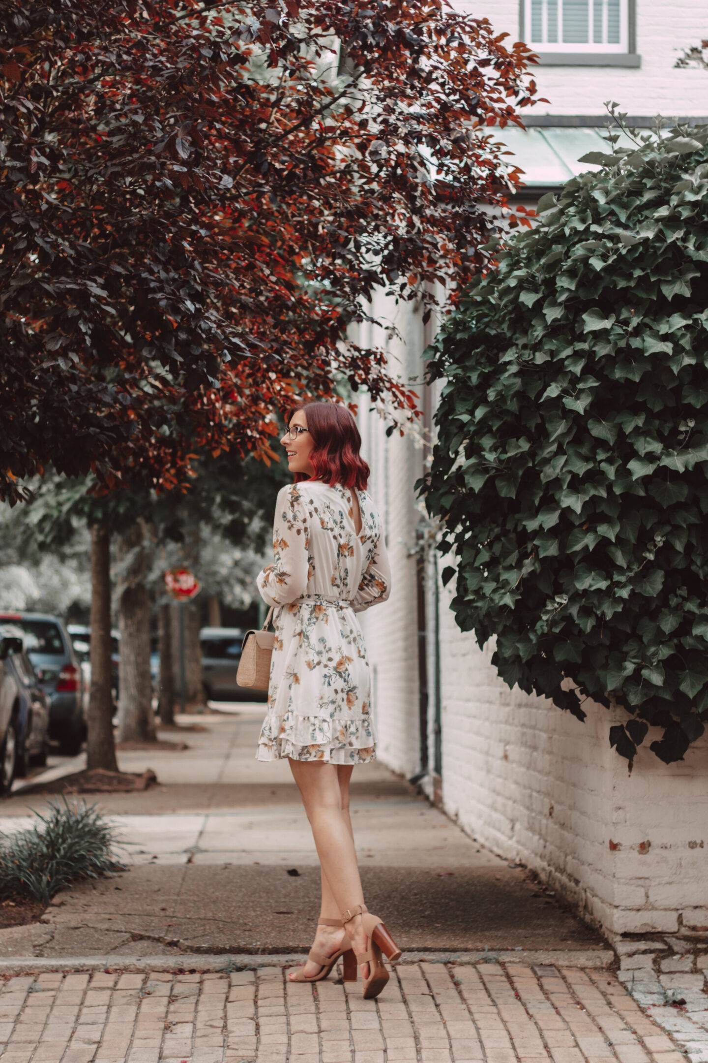 How To Style a Floral Mini Dress With Sleeves | She Saw Style