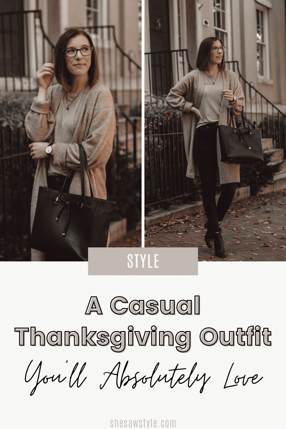 A Casual Thanksgiving Outfit You'll Absolutely Love | She Saw Style